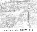 construction activities and...   Shutterstock . vector #706701214