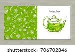 greeting cards design  herbal...   Shutterstock .eps vector #706702846