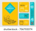 hand drawn honey flayer... | Shutterstock .eps vector #706703374