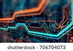 abstract technological... | Shutterstock . vector #706704073