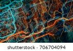 abstract technological... | Shutterstock . vector #706704094