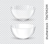 glass and ceramic bowl vector...   Shutterstock .eps vector #706704244