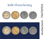 south african currency  rand    ... | Shutterstock .eps vector #706705924