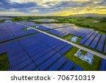 aerial subtropical solar... | Shutterstock . vector #706710319