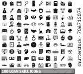 100 loan skill icons set in... | Shutterstock .eps vector #706712074