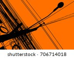 silhouette of chaos electric...   Shutterstock . vector #706714018