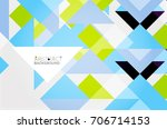 triangle pattern design... | Shutterstock . vector #706714153