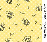cute hand drawn seamless... | Shutterstock .eps vector #706714639