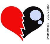 heart broken    Shutterstock . vector #706724380