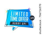 limited time offer banner in... | Shutterstock .eps vector #706726570