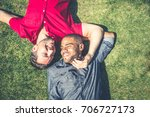 homosexual couple at a romantic ... | Shutterstock . vector #706727173