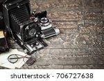 old camera | Shutterstock . vector #706727638