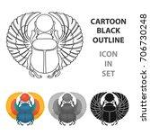 egyptian beetle ancient egypt... | Shutterstock .eps vector #706730248