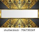 golden and dark vector... | Shutterstock .eps vector #706730269