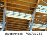 steel roof systems with wood  | Shutterstock . vector #706731253