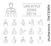 doctor  worker  military ...   Shutterstock .eps vector #706732804