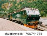 flam  norway. famous railroad... | Shutterstock . vector #706744798