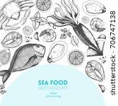 seafood design template. vector ...