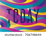 creative geometric colorful... | Shutterstock .eps vector #706748644
