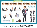businessman character. poses... | Shutterstock .eps vector #706748770