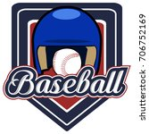 isolated baseball emblem with a ... | Shutterstock .eps vector #706752169