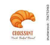 croissant icon for bakery shop... | Shutterstock .eps vector #706752463