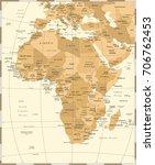 africa map   vintage detailed...   Shutterstock .eps vector #706762453