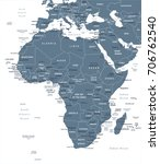 africa map   detailed vector... | Shutterstock .eps vector #706762540