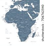 africa map   detailed vector...   Shutterstock .eps vector #706762540