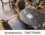 looking down on a wet black... | Shutterstock . vector #706770040