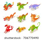 collection of fairytale chinese ...   Shutterstock .eps vector #706770490