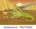 greek mythology heracles...   Shutterstock .eps vector #706770604