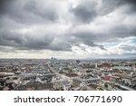 dark clouds over the city of... | Shutterstock . vector #706771690