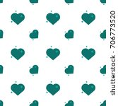 hearts of love amour seamless... | Shutterstock .eps vector #706773520