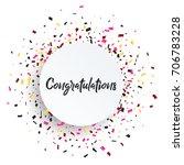 congratulations card. beautiful ... | Shutterstock .eps vector #706783228
