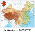 china physical map. high... | Shutterstock .eps vector #706783729