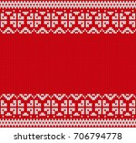 seamless knitting pattern.... | Shutterstock .eps vector #706794778