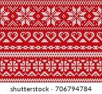 seamless knitting pattern ...   Shutterstock .eps vector #706794784