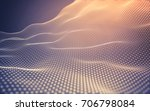 abstract polygonal space low... | Shutterstock . vector #706798084