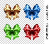 set of colorful gift bows on... | Shutterstock .eps vector #706815103