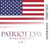 patriot day background   we... | Shutterstock .eps vector #706817623