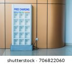 free phone charging station in... | Shutterstock . vector #706822060