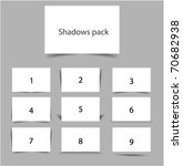 shadows pack | Shutterstock .eps vector #70682938