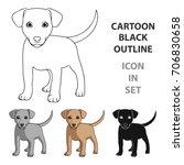 Stock vector puppy labrador animals single icon in cartoon style vector symbol stock illustration web 706830658