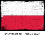 grunge elements with flag of... | Shutterstock .eps vector #706831624