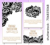 romantic invitation. wedding ... | Shutterstock .eps vector #706835068
