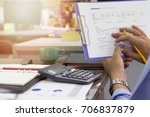 business and finance concept of ... | Shutterstock . vector #706837879