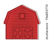 stable building isolated icon | Shutterstock .eps vector #706853770