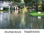 flooded streets of the... | Shutterstock . vector #706854343