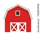 stable building isolated icon | Shutterstock .eps vector #706855906